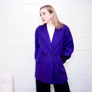 Johnathon Stevens purple wool coat size 8